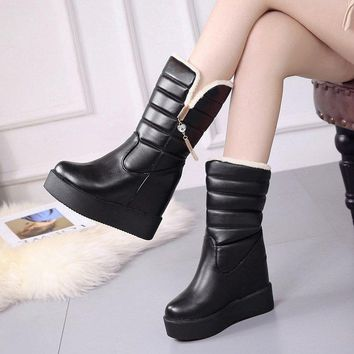 CYOSO Women Boots 2018 Winter Shoes Woman Plus Insole Snow Boots Fur Warm Boots for Women Waterproof Winter Botas Mujer