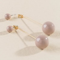 Karla Linear Ball Drop Earring