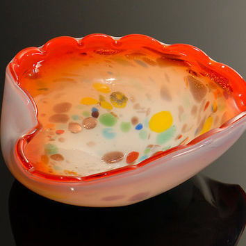 Vintage Murano Art Glass Bowl Toso by GSArcheologist on Etsy
