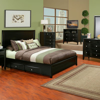 Alpine Laguna Full Size Low Footboard Panel Bed