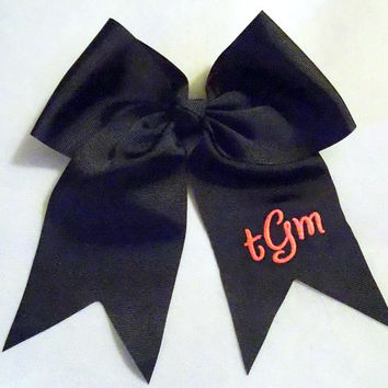 Monogrammed Hair Bow  Big Cheer Bow Personalized Monogrammed