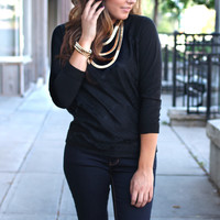 Embrace the Lace Sweater - Black