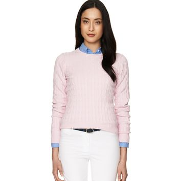 GANT Dam Cotton Cable Crew -Tröja Nantucket Pink