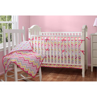 Walmart: Baby Boom Zig Zag Reversible 4pc Crib Bedding Set