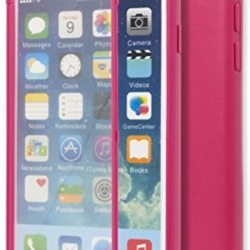 "iPhone 6, 4.7"" Hot Pink TPU Wrap Up Case with Built In Screen Protector"