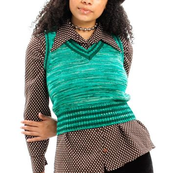 Vintage 70's Teal I Sea You Again Sweater Vest - XS/S/M