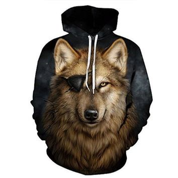 Wolf Patch Hoodie