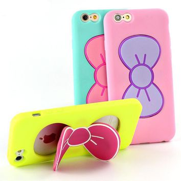 Butterfly Bow 3D Stand iPhone Case