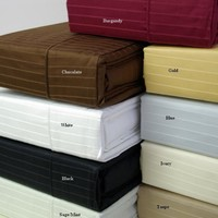 King Pin Stripe 310 Thread count 100% Combed cotton Sheet sets