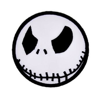 ac spbest Angry Jack Skellington Iron On Patch Halloween Applique  Nightmare Before Christmas