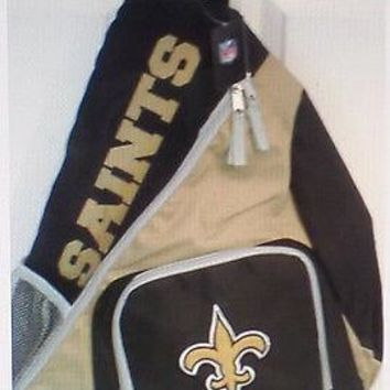 FLEUR DE LIS /  NEW ORLEANS SAINTS  BACK PACK-BLACK/GOLD