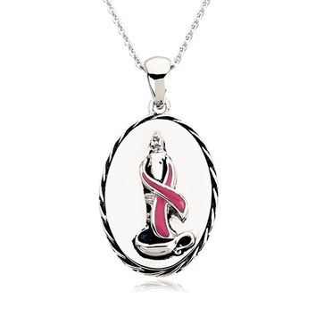 Breast Cancer Awareness Sterling Silver Necklace