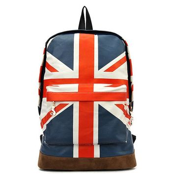 British Flag Style Backpack 2017  New UK England Flag Backpack Canvas School Bags Trendy Bolsas Mochilas Femininas mujer