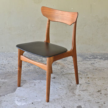 Schionning & Elgaard Danish Teak Desk Chair