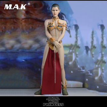 Star Wars Force Episode 1 2 3 4 5 DIY 1/6  Female Full Set Action Figure  The Princess Leia Clothes Set & Head & Phicen Seamless Body for Fans Collection AT_72_6