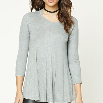 Ribbed Knit Trapeze Top
