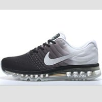 """""""NIKE"""" Trending Fashion Casual Sports Shoes AirMax section Grey white"""