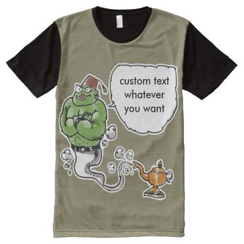 genie of the lamp custom text whatever you want All-Over print shirt