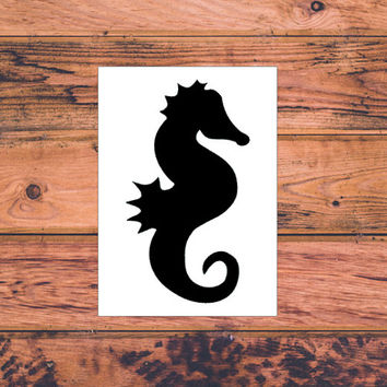 Seahorse Decal | Preppy Seahorse | Monogram Decal | Preppy Decal | Sea Life Monogram Decal | Sea Horse Stick | Yeti Sticker | Macbook | 252
