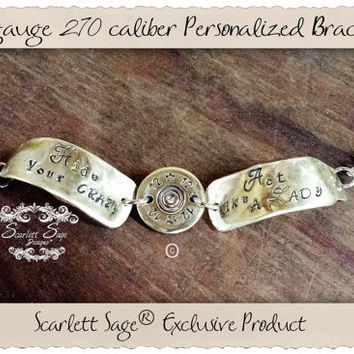 12 gauge Bullet Jewelry Rifle Ammo Personalized Bracelet, Miranda Lambert, Johnny Cash