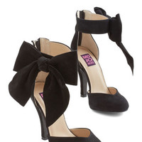 ModCloth Darling Just Add Fab Heel in Jet