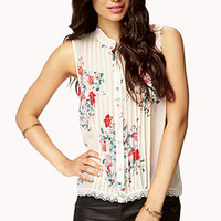 Floral Pintucked Top