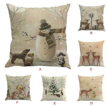 Country Gift Collection - Christmas Printed Throw Pillows - Multiple Designs