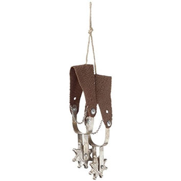Western Cowboy Cowgirl Spur Set Ornament - 11-in