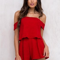 Zula Off The Shoulder Playsuit