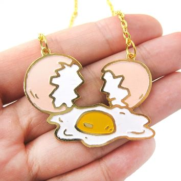 Shattered Broken Egg Shaped Pendant Necklace | Limited Edition
