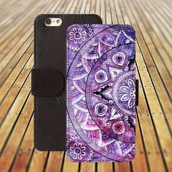 iphone 6 case rainbow mandara iphone 4/4s iphone 5 5C 5S iPhone 6 Plus iphone 5C Wallet Case,iPhone 5 Case,Cover,Cases colorful pattern L493