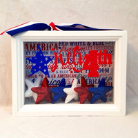 4th of July Shadow box