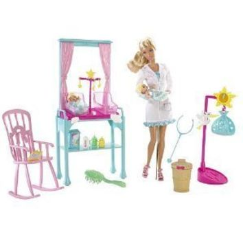 Mattel Barbie I Can Be Newborn Baby Doctor Playset