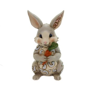 Jim Shore BUNNY WITH CARROT MINI Polyresin Easter Rabbit 6003621