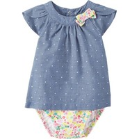 Child Of Mine by Carters Newborn Baby Girl Dress - Walmart.com