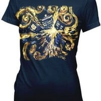 Ripple Junction Doctor Who Van Gogh Pandoric Juniors T-Shirt