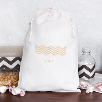 Personalized 10 Chevron Wedding Welcome Bags