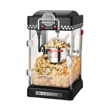 Great Northern Black Little Bambino 2.5oz Table Top Retro Machine Popcorn Popper
