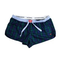 Chandler Tartan Lounge Short in Navy and Green by Southern Marsh - FINAL SALE