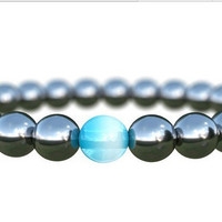 Shiny Gift Stylish Awesome Great Deal New Arrival Hot Sale Handcrafts Blue Bracelet [4970302084]