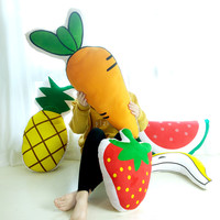 Carrots Waterlemon Strawberry Banna Pineapple Pillow Baby Toys Stuffed Throw Pillow Cushion for Kids Baby Bedroom Decration