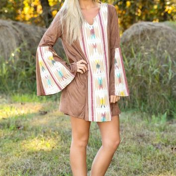 JUDITH MARCH: Colors of The Wind Dress-Mocha