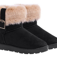 Suede Winter Ankle Boots
