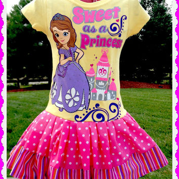 Sofia The First girls boutique Princess twirl party Dress Birthday Surprise size 2T 3T 4T 4 5 and 6 ready to ship