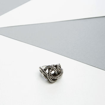 Metal Rope Knot Ring