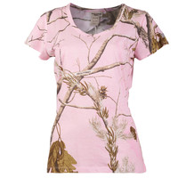 Realtree Girl AP Pink Marlow Crew Neck Shirt