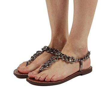 CREYI7E Sam Edelman for Women: Grella Pewter Sandals
