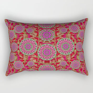 Hearts can also be flowers such as bleeding hearts pop art Rectangular Pillow by Pepita Selles