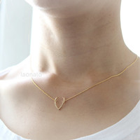 Antler Necklace / choose your color, gold and silver