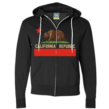 Don Pimentel California Republic Bear Flag Zip-Up Hoodie